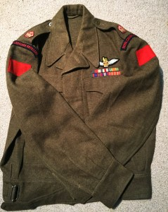 Pilot, Royal Canadian Artillery, battledress blouse dated 1953. Likely a Artillery spotter pilot (Auster or L-19 or helicopter pilot).