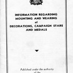 Page 0 - Information regarding mounting and wearing of decorations, campaign stars and medals, published by the Department of Veterans Affairs Canada circa 1945