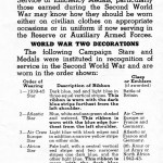 Page 3 - Information regarding mounting and wearing of decorations, campaign stars and medals, published by the Department of Veterans Affairs Canada circa 1945 page 2 was blank.