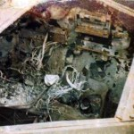 Ferret 54-82578 after destruction in a hanger firer - engine compartment.