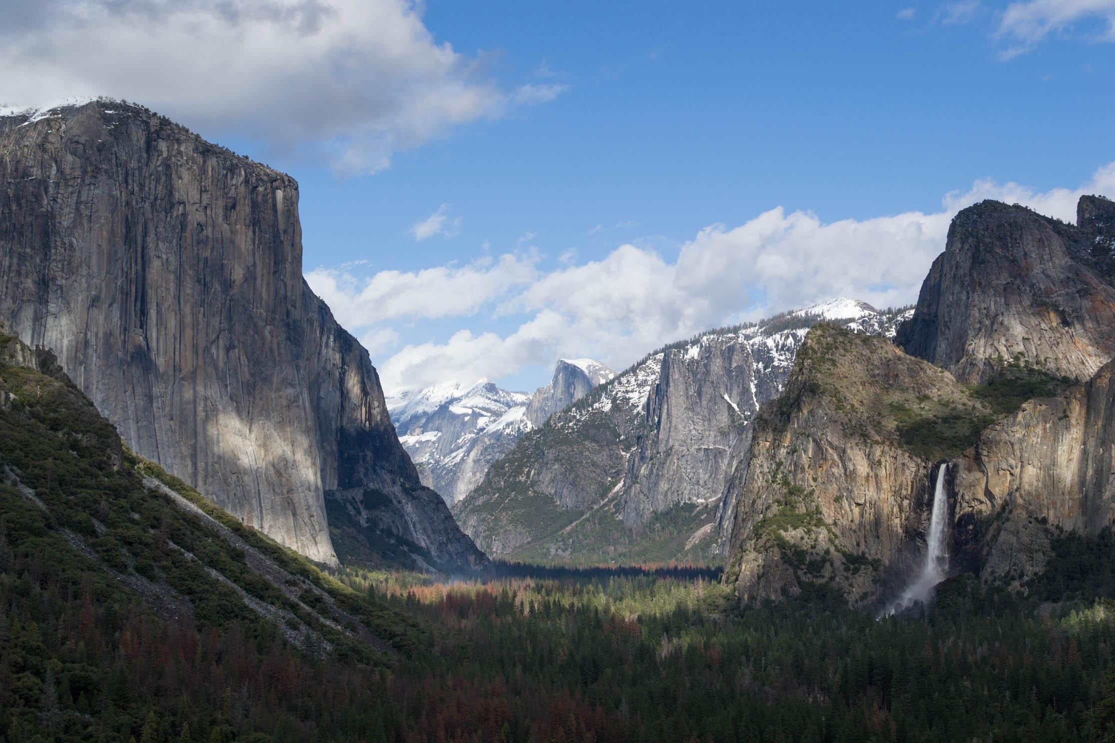 Tunnel View, la vue emblématique du Yosemite