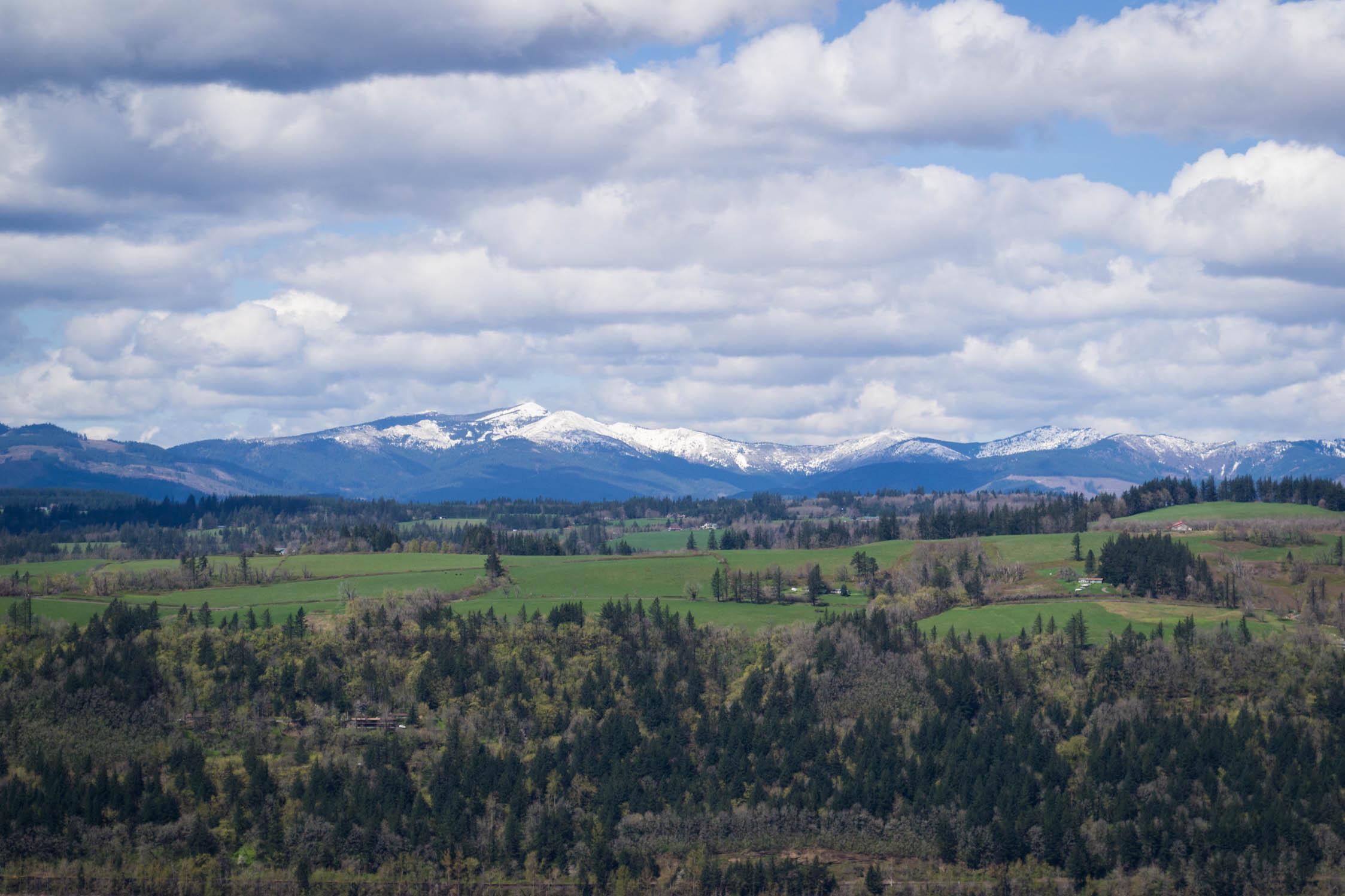 Une chaîne de montagne depuis Vista Point