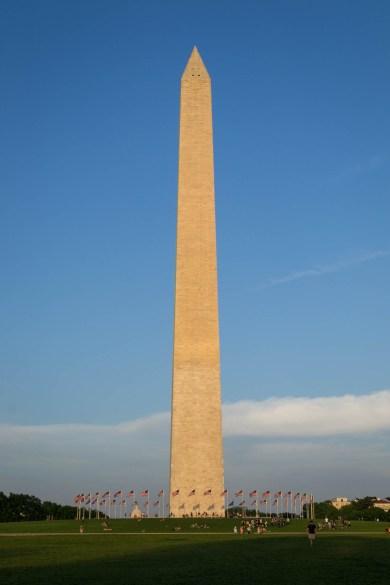 Le Washington Monument au coucher du Soleil