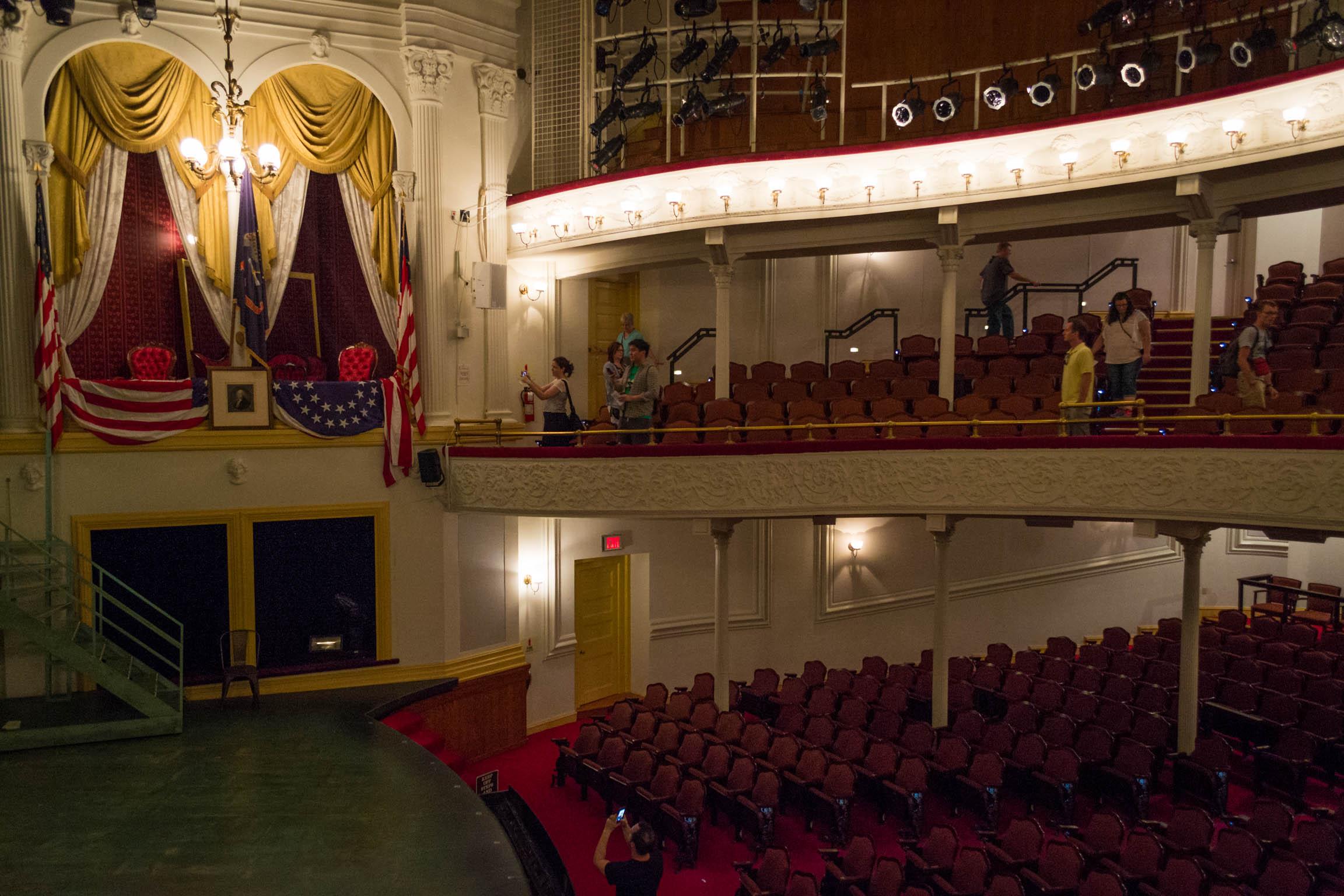 L'intérieur du Ford's Theater depuis le balcon