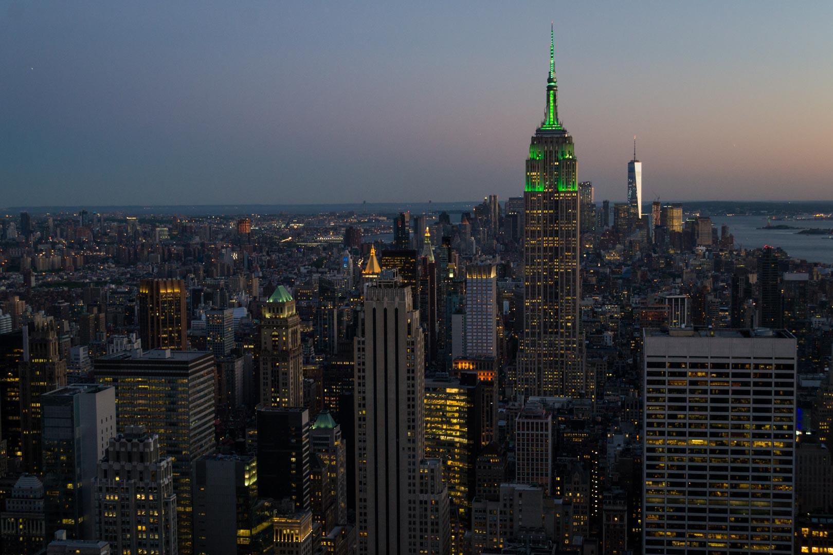 Manhattan juste après le coucher du Soleil