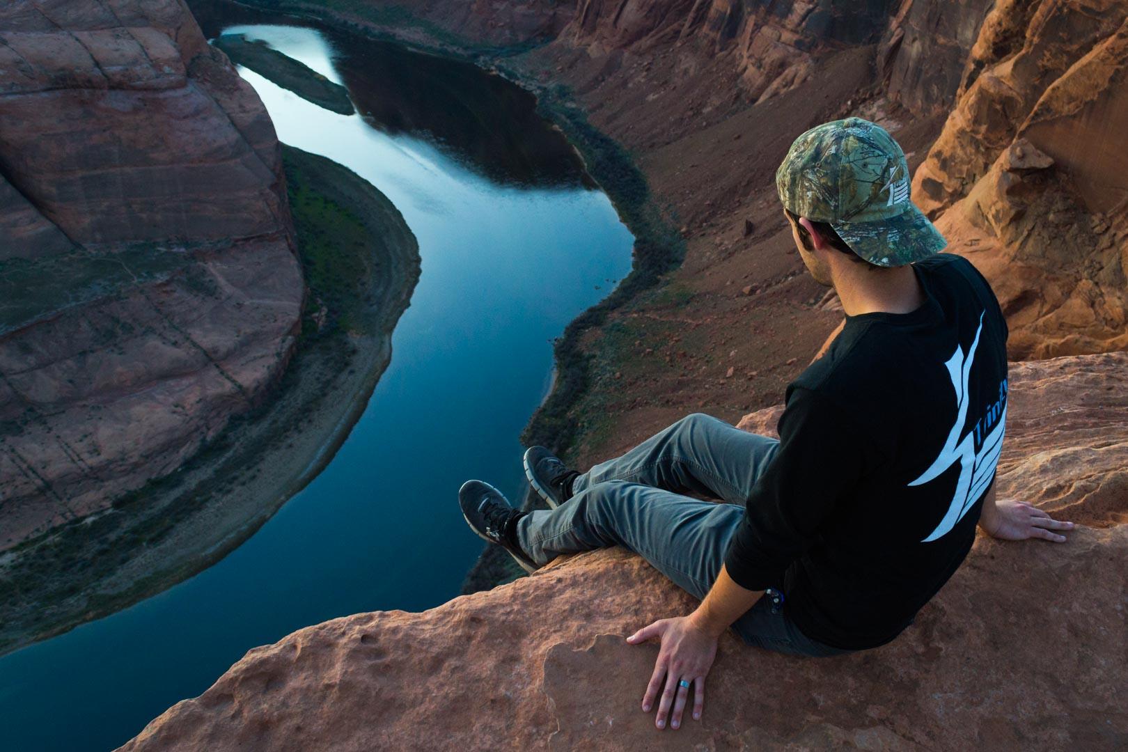 Un touriste au dessus du vide, mon image préférée
