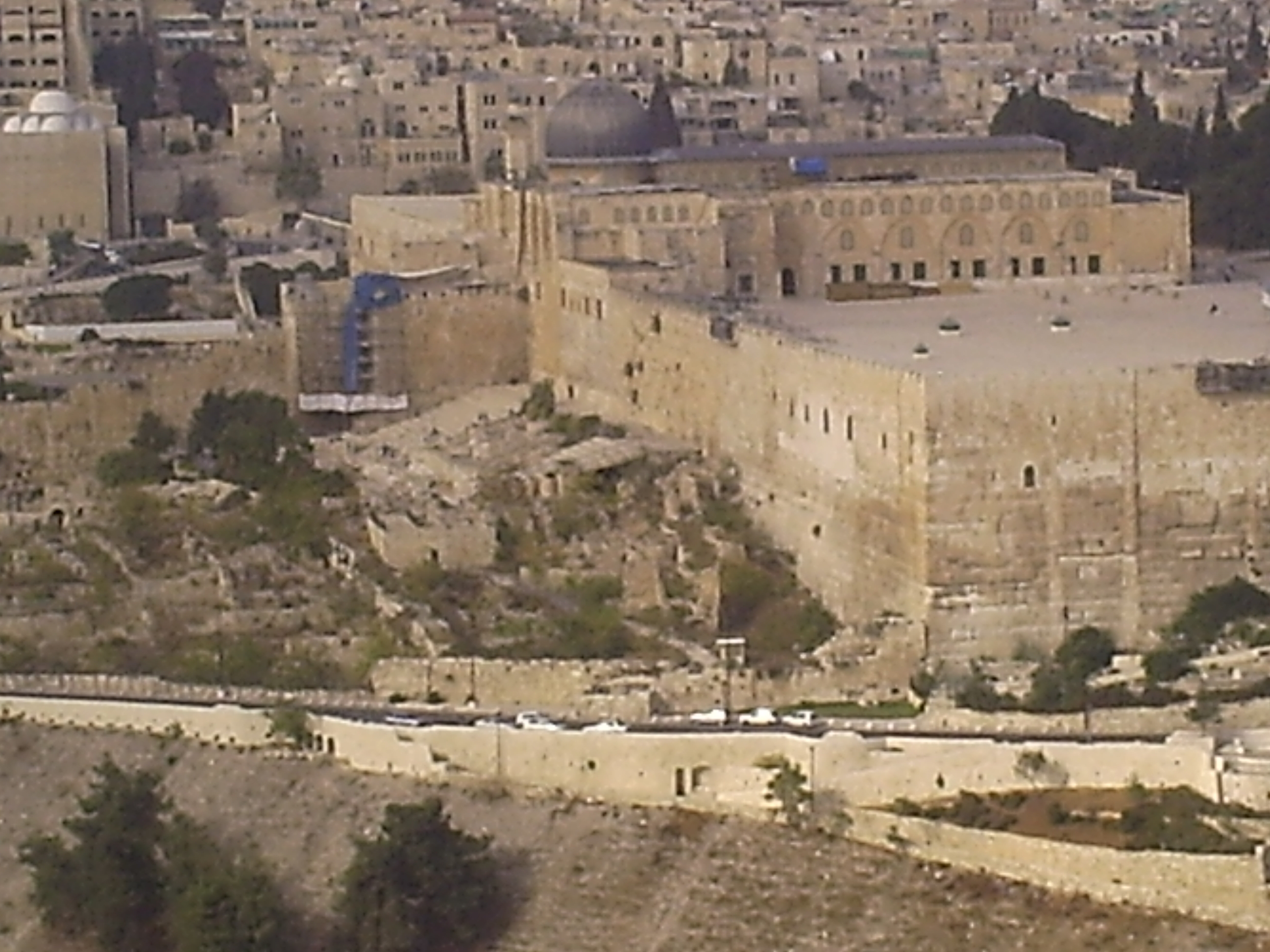 Ruins of the area of the temple cleansed by Jesus