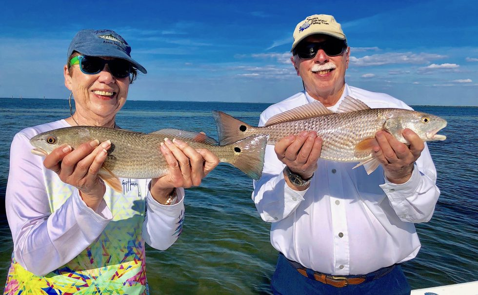 Two Redfish, Sanibel Island Fishing, Catch & Release, Captiva Island, Wednesday, February 6, 2019.
