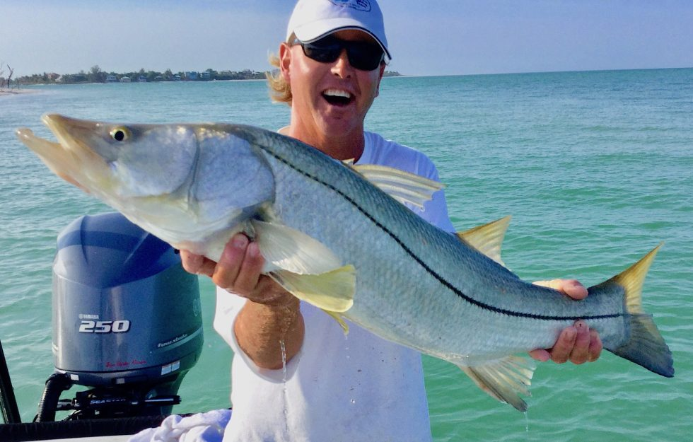 Big Snook, Jimmy Burnsed, Sanibel Island Fishing, Catch & Release, Captiva Island, Friday, April 5, 2019.