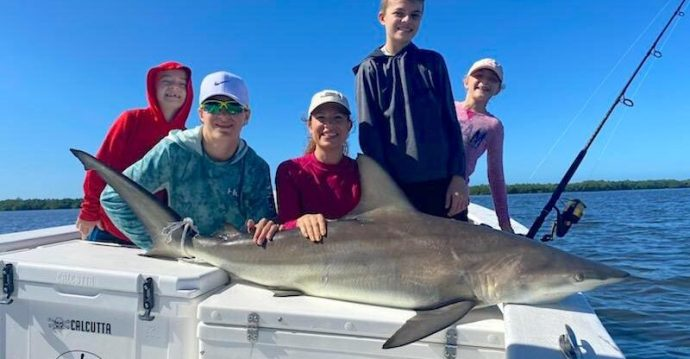 Blacktip Shark, Sanibel Island Fishing, Catch & Release, Captiva Island, Friday, November 25, 2020.