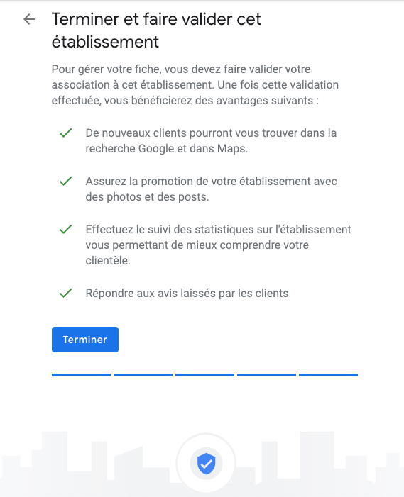 google my business étape 8