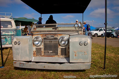 Lowered Landrover