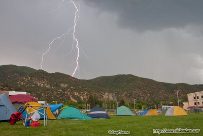 Lightning storm over the campground