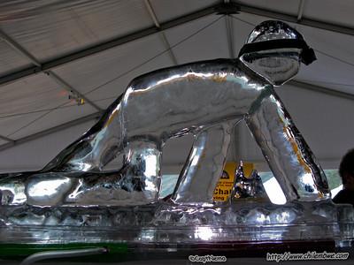 Caver ice sculpture