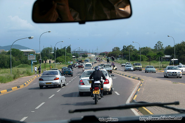 Back in traffic in Gaborone at least it's not raining for the moment.