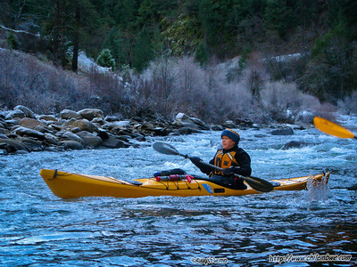 Kayaking back