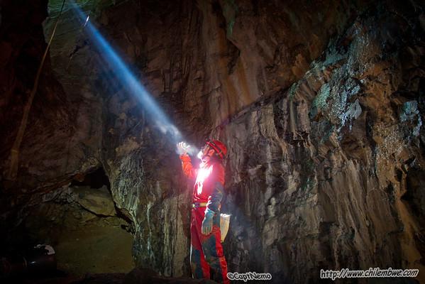 Sunbeam in Byci Skala cave