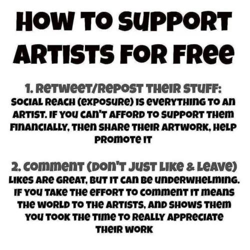 How to Support Artist for Free