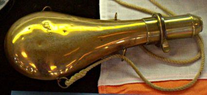 Lyle Gun Powder Flask - US Coast Guard Museum - Seattle