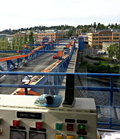The view north from the Fremont Bridge Operator Tower