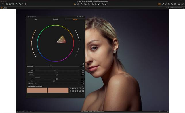 Skin Tone correction in Capture One Pro 10