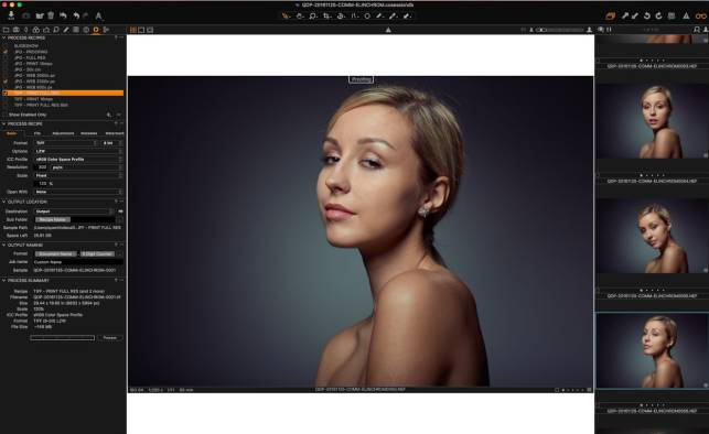 Printing and Web proofing in Capture One Pro 10