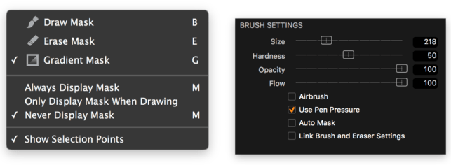 If you need to erase a part of a mask, just choose Erase Mask or hit the keyboard shortcut E.