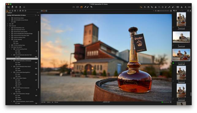Workspace in Capture One Pro 10