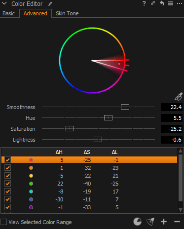 Capture One Color Editor tool