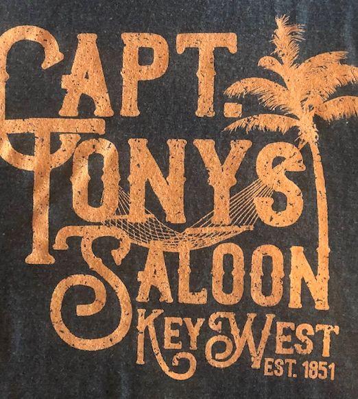 Captain Tony's Saloon Ladies Logo Tank Top