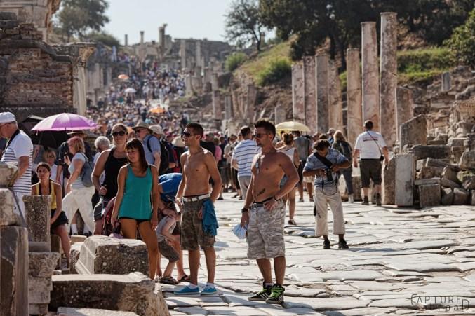 Crowds at Ephesus Ruins