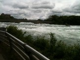 Awesome power of Niagara River above the falls!
