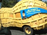 We got to see the Mr. Peanut car on the ride home on I-40!