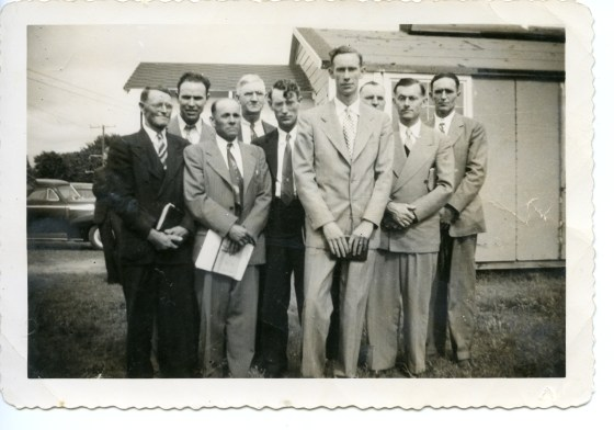 My Dad, the tall guy in the center, being ordained as a baptist minister