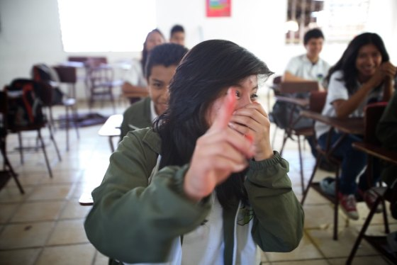 I am afraid that my desire to photograph these students here at City of the children was incredibly disruptive as they burst into a combination of laughter, tears and covering there faces at the thought of being photographed. Pretty much universal teenage girl responses....