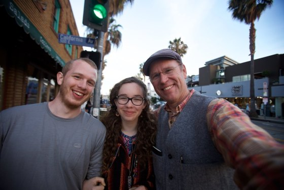 Matthew, Carissa and myself on Abbot Kinney Street in Santa Monica