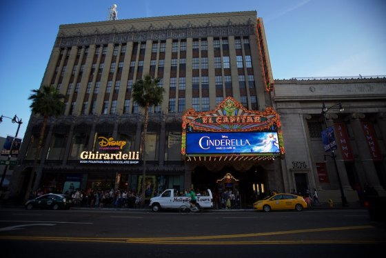 Watched the opening of Cindarella at the El Capitan on Hollywood Boulevard