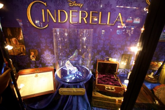 Yep, Cinderella's glass slippers as seen in the movie