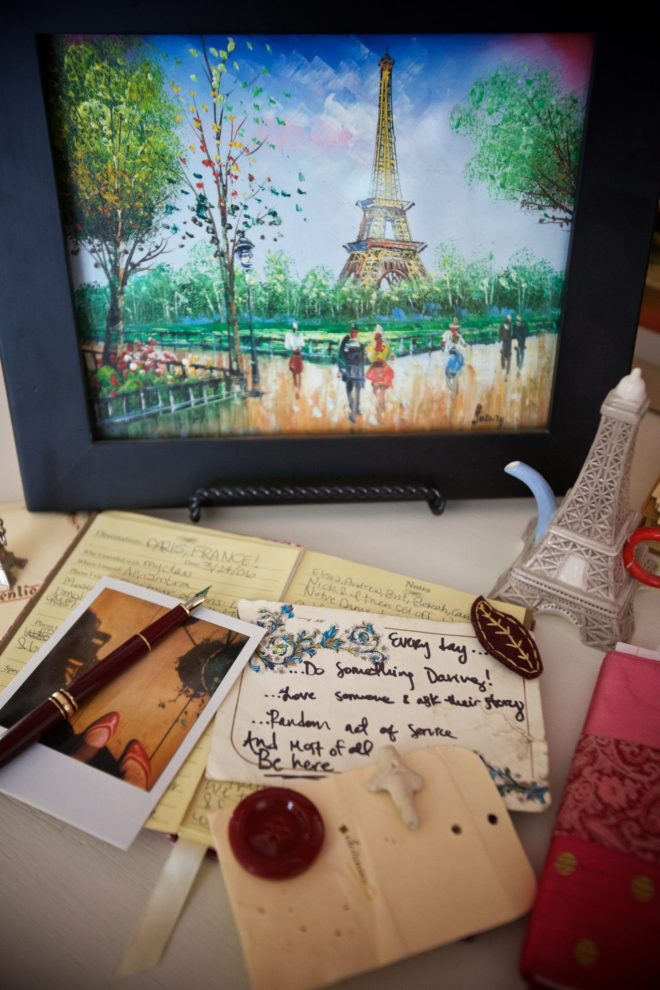 I love this oil painting that Christina purchased while in Paris. So many little treasures in this photo smile emoticon