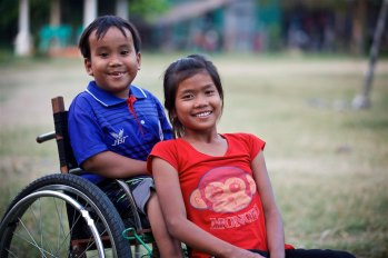 This is Chamra's (house parent at New Hope For Orphans) son Lido in the wheelchair. Lido was born with a spinal chord defect that required surgery. The surgery left him unable to walk. I look forward to telling his story and how Chamra's faith was strengthened through the body of Christ. Poipet, Cambodia