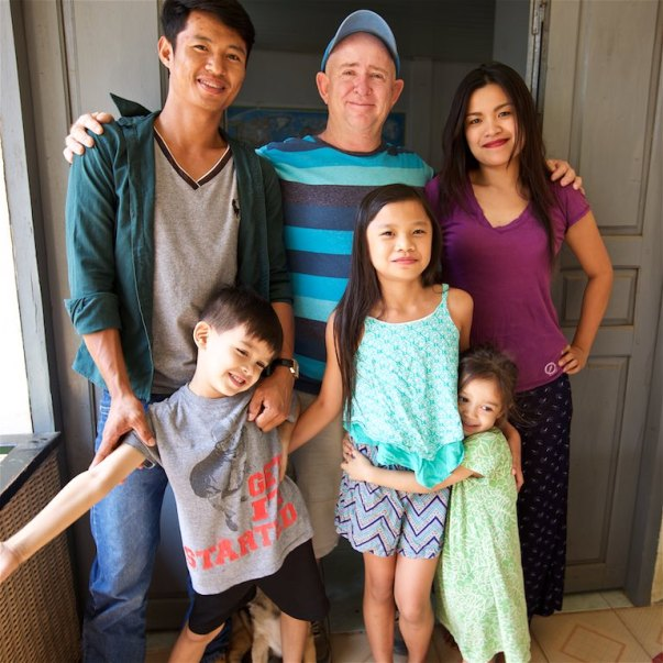 (Left to right) Somnang Phen and Cambodian Missionaries Hubert and Agnes Tutwiler and their family.Hubert and Ages were my hosts in Cambodia and I cannot thank them enough for showing me story after story of the body of Christ at work