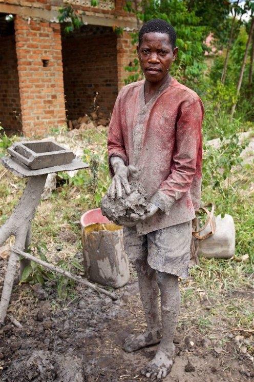 Ugandan brick layer