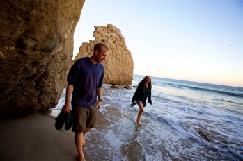 Matthew and Carissa at El Matador beach