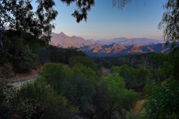 View of the Santa Monica mountain range from our Airbnb