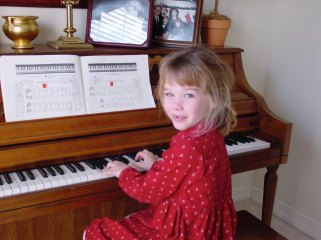 So many videos of this little Angel playing the piano...