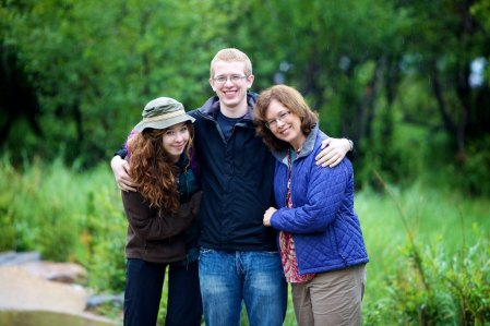 Family hiking at Estes Park, Colorado