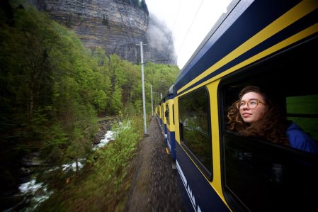 A moving experience on board the trains of Switzerland