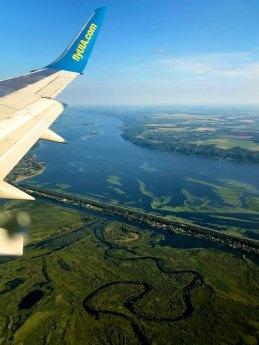Landing at Kiev, Ukraine