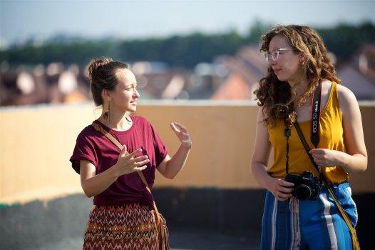 Anastasia explaining the ministry to Carissa and I