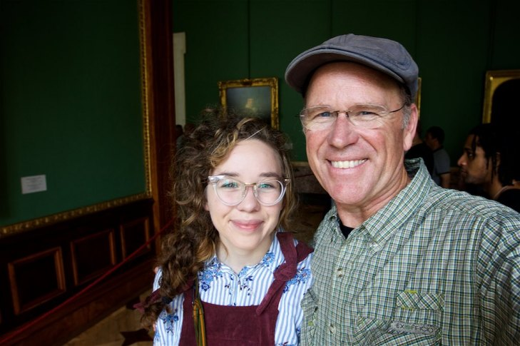 Carissa and I standing before Rembrandt's The Prodigal Son